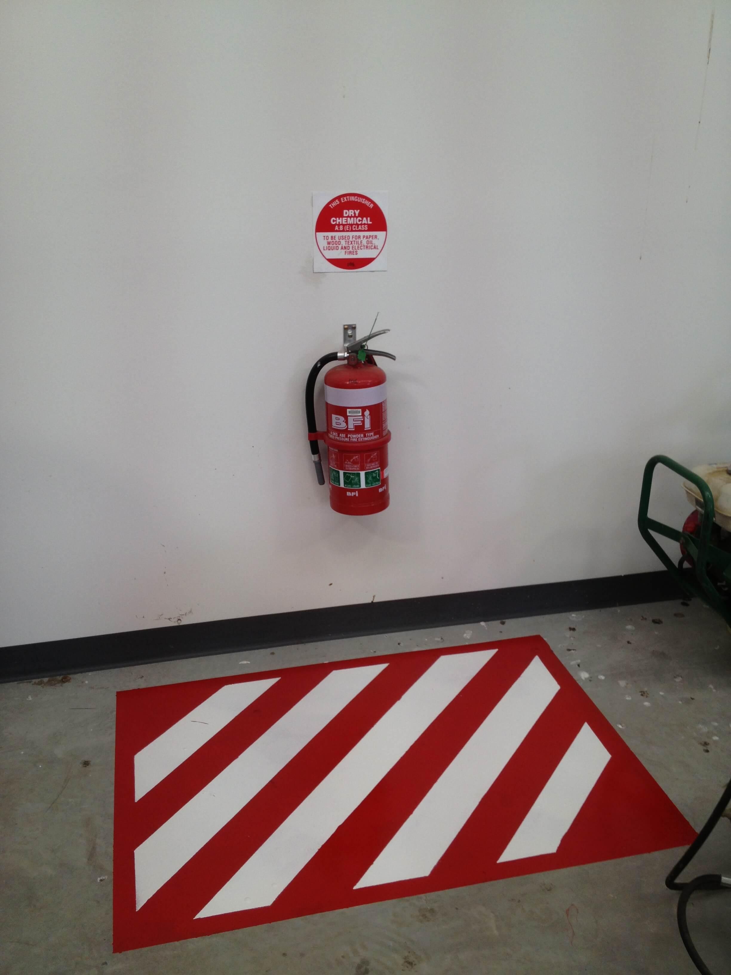Fire Extinguisher Floor Marking Requirements Carpet