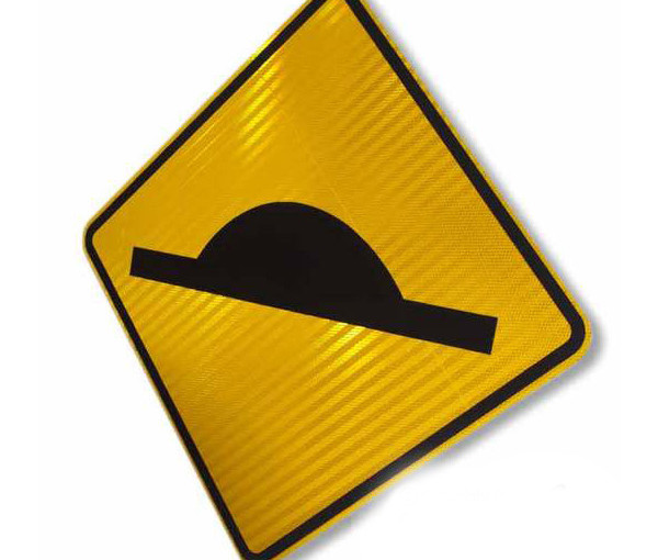 W5-10A - Speed Hump Warning Sign